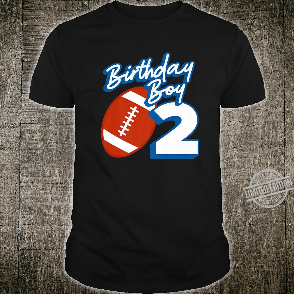 2nd Birthday Boy Football Ball 2 Years Old Ideas Shirt