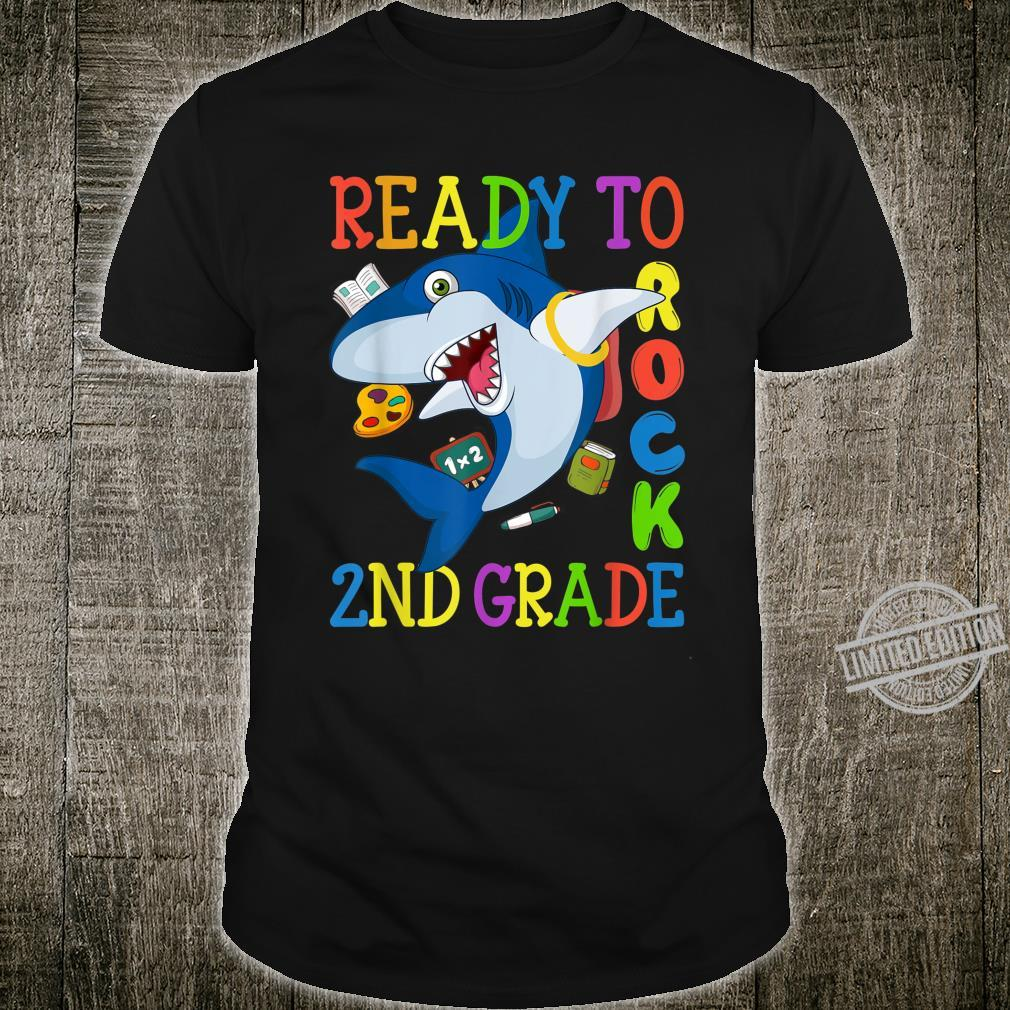 2nd Grade Dabbing Shark Back to School Girls Boys Shirt