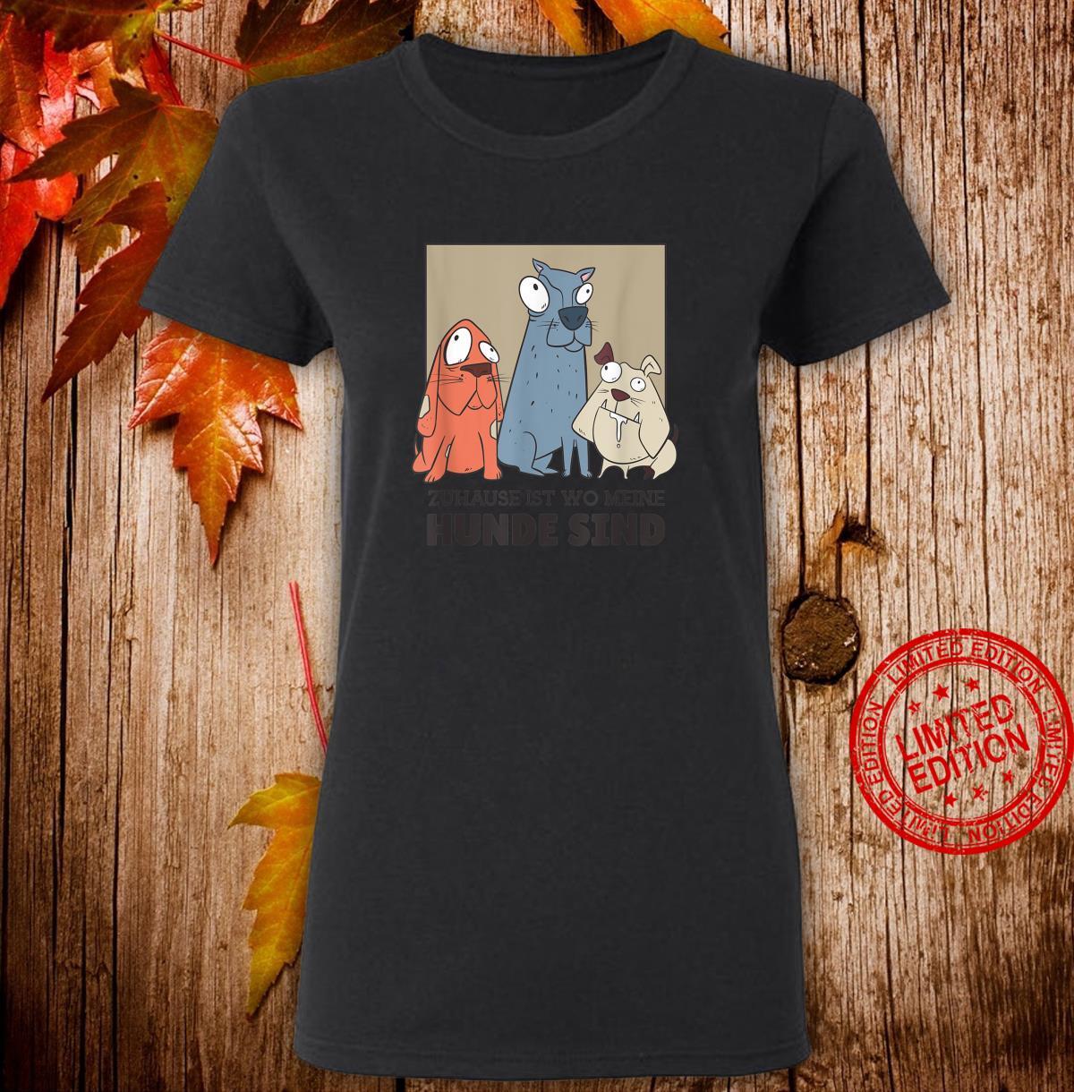 3 Hunde Hund sprüche hundehalter hundeliebe Geschenk Shirt ladies tee