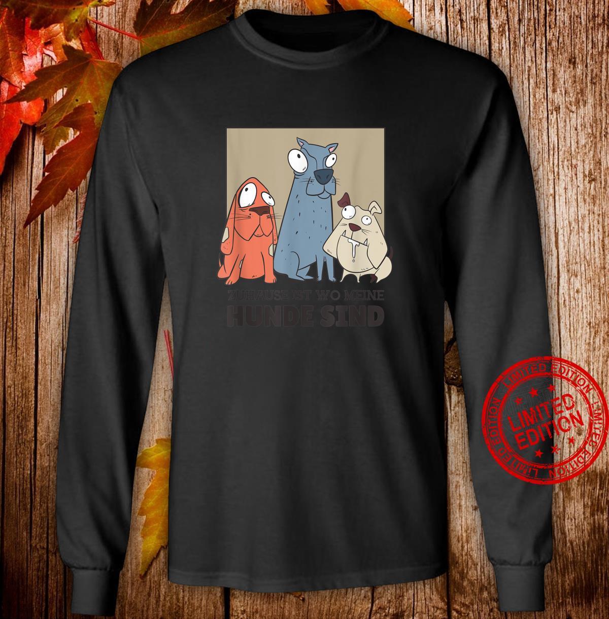3 Hunde Hund sprüche hundehalter hundeliebe Geschenk Shirt long sleeved