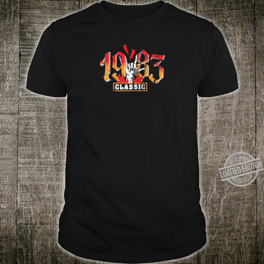 37th birthday vintage 1983 Classic Metalhand Shirt
