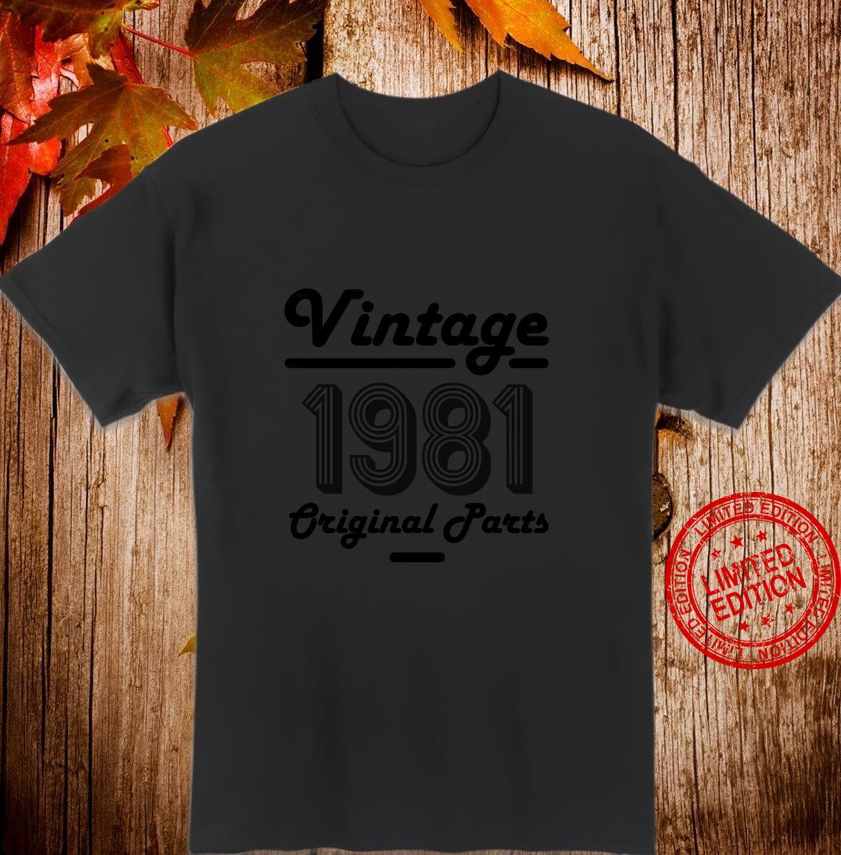 39th Birthday Vintage 39 Year Old Dad 1981 Shirt
