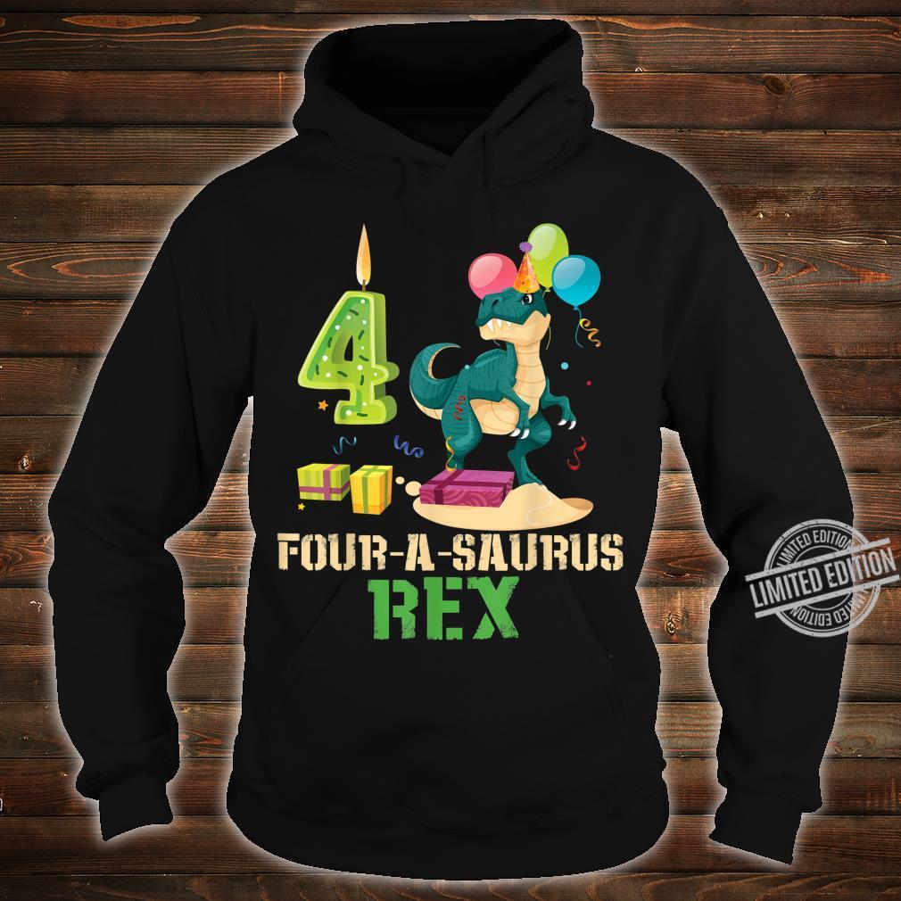 4 Years Old Boy 4th Birthday Dinosaur Shirt hoodie
