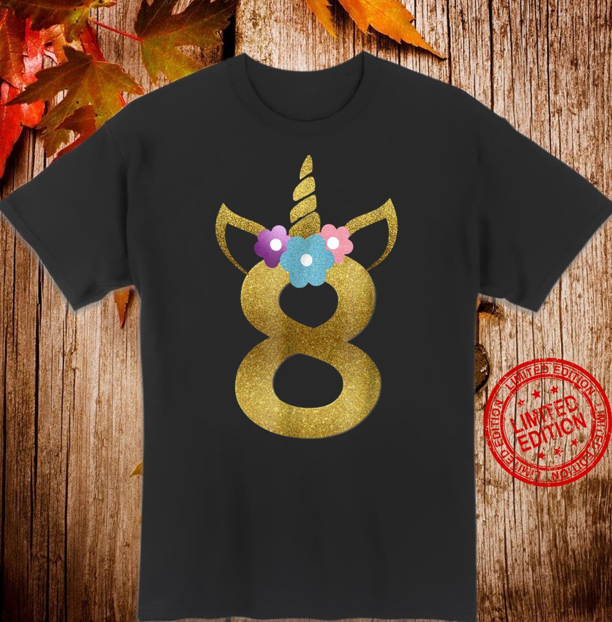 8th Birthday Shirt Eight Birthday Unicorn Shirt for girls Shirt