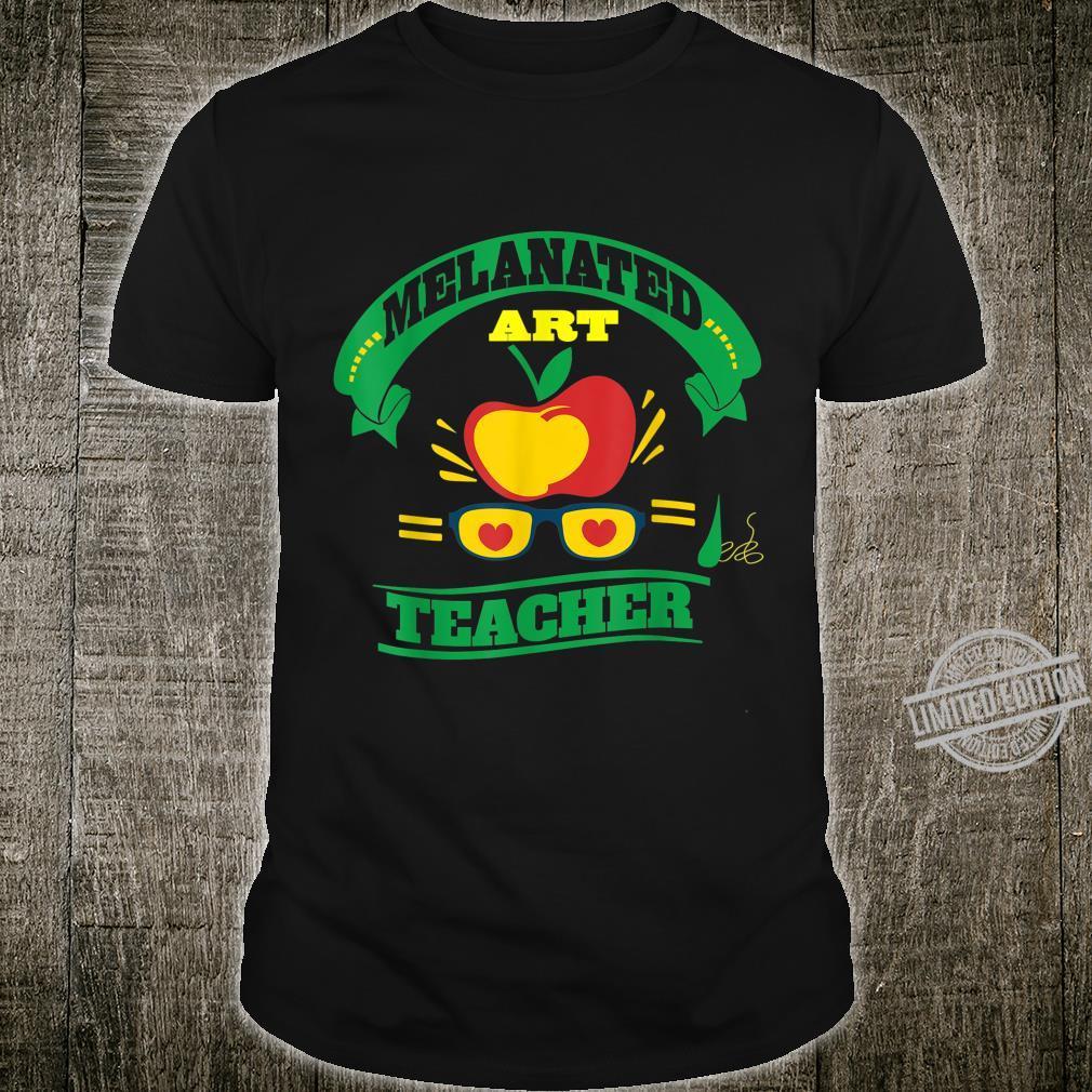 African American Art Teacher Afro Melanin Black Teacher Shirt