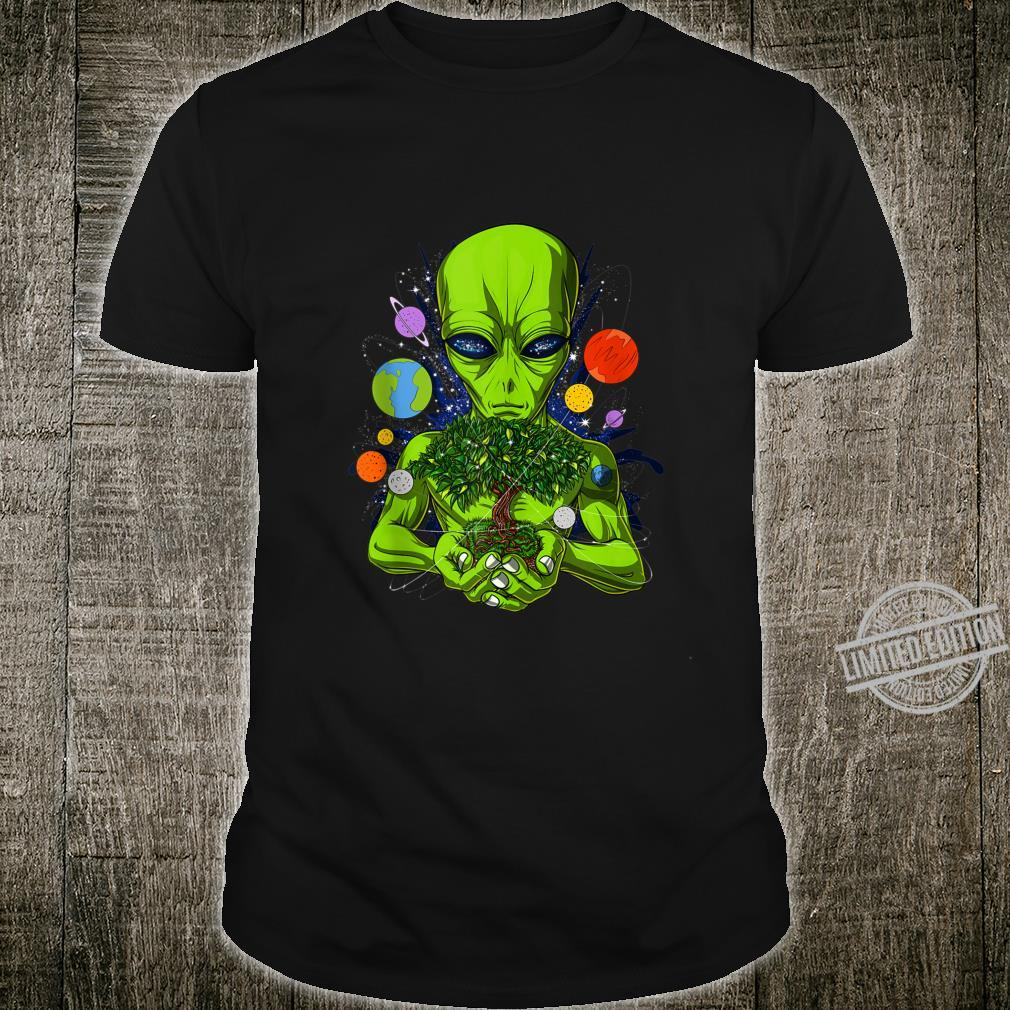 Alien Tree Of Life Space UFO Planets Extraterrestrials Shirt