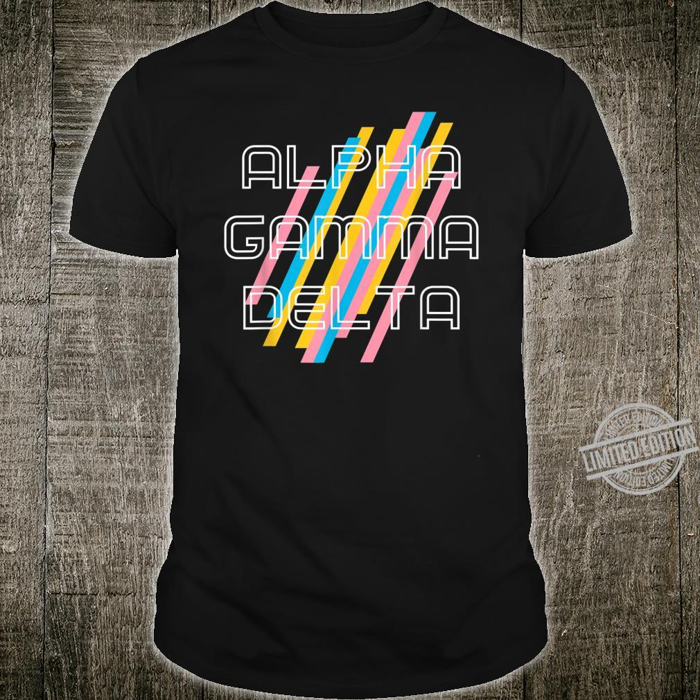 Alpha Gam AGD Pastel Stripes Shirt