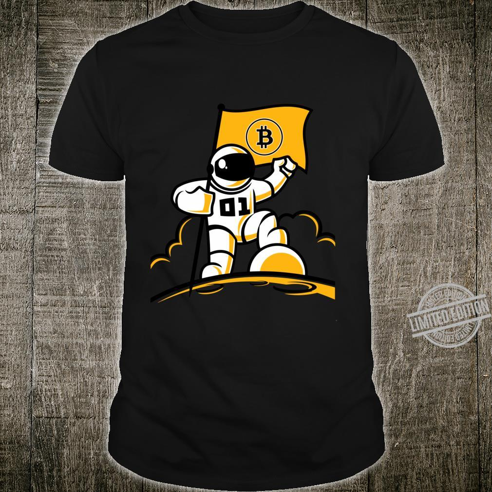 Astronaut Bitcoin Flag The Moon Space Trader Miner Investor Shirt