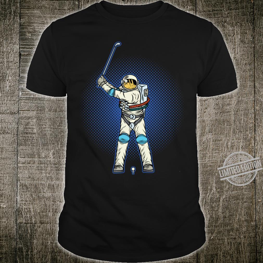 Astronaut Playing Golf Shirt