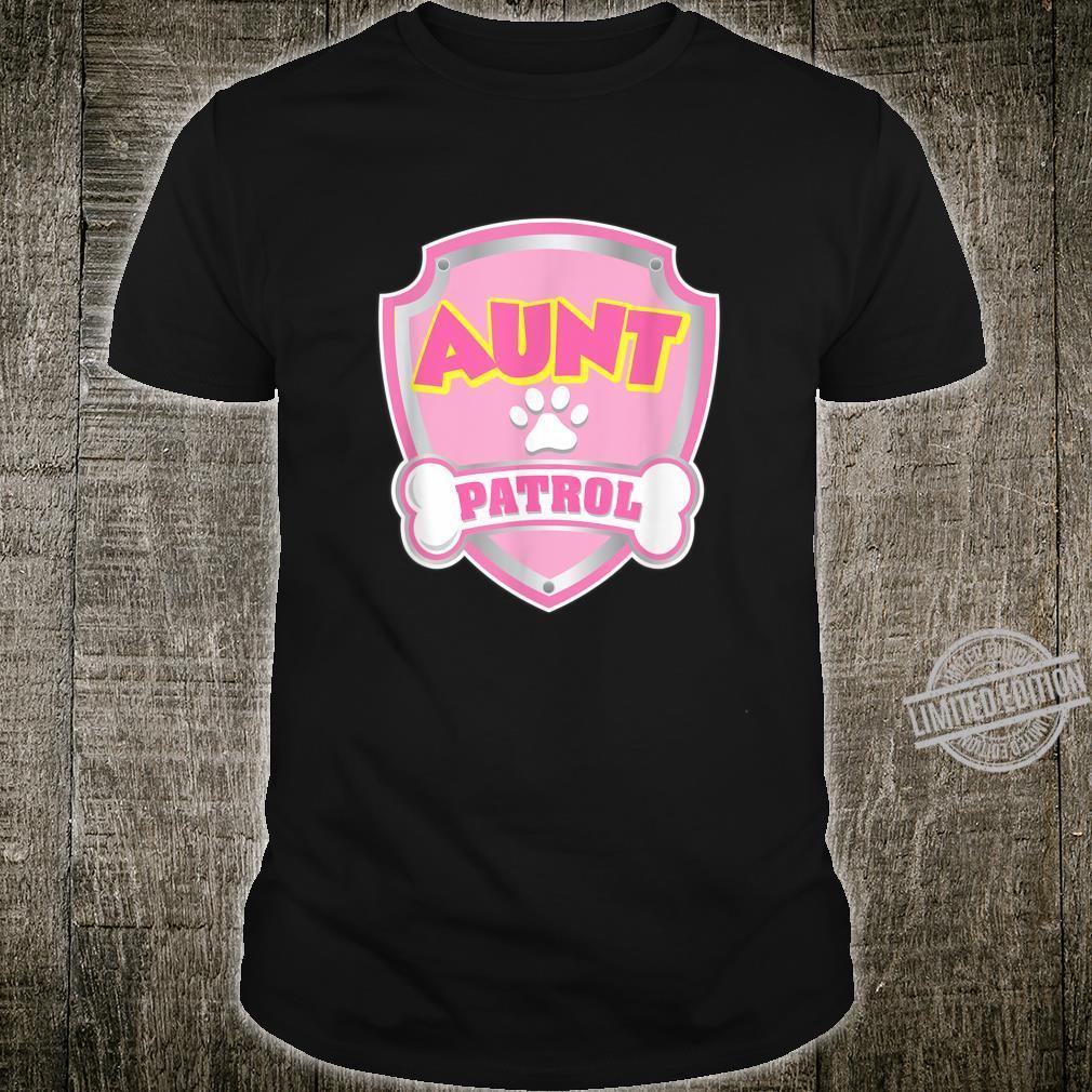 Aunt Patrol Shirt Dog Mom Dad Birthday Party Shirt