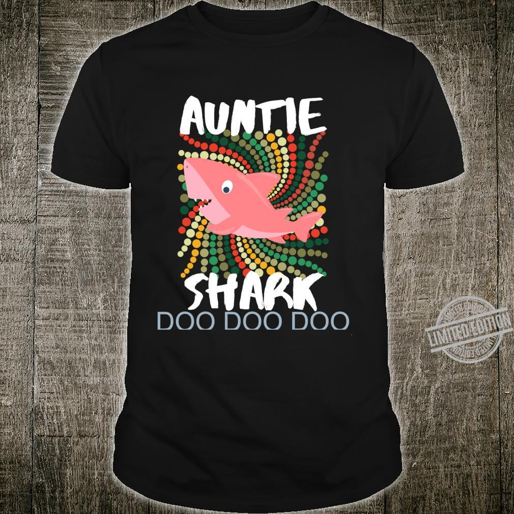 Auntie Shark Shirt Doo Doo Mother's Day For Sister Aunt Shirt