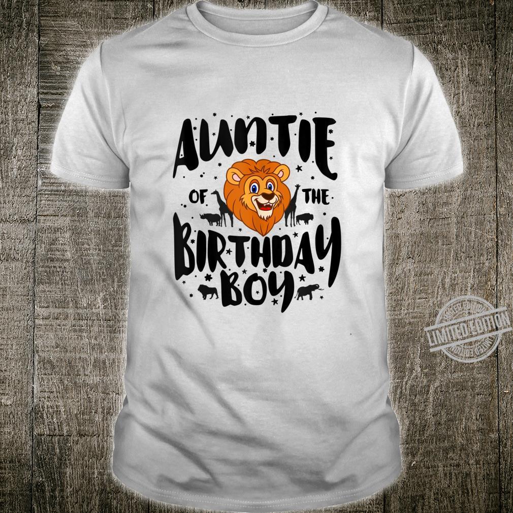 Auntie of the Birthday Boy cute jungle safari animals Shirt
