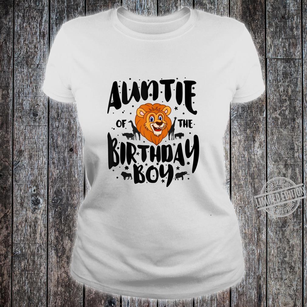 Auntie of the Birthday Boy cute jungle safari animals Shirt ladies tee
