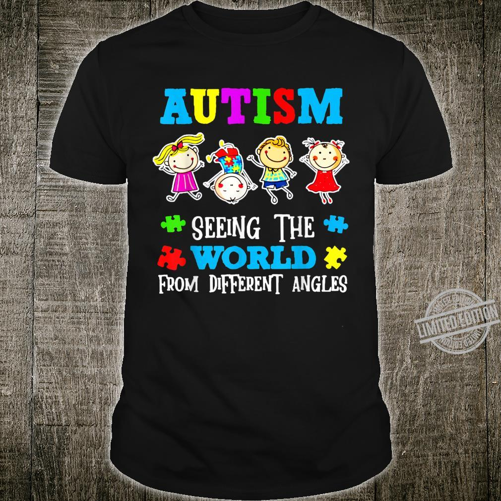 Autism Awareness Day Costume Seeing the world Shirt