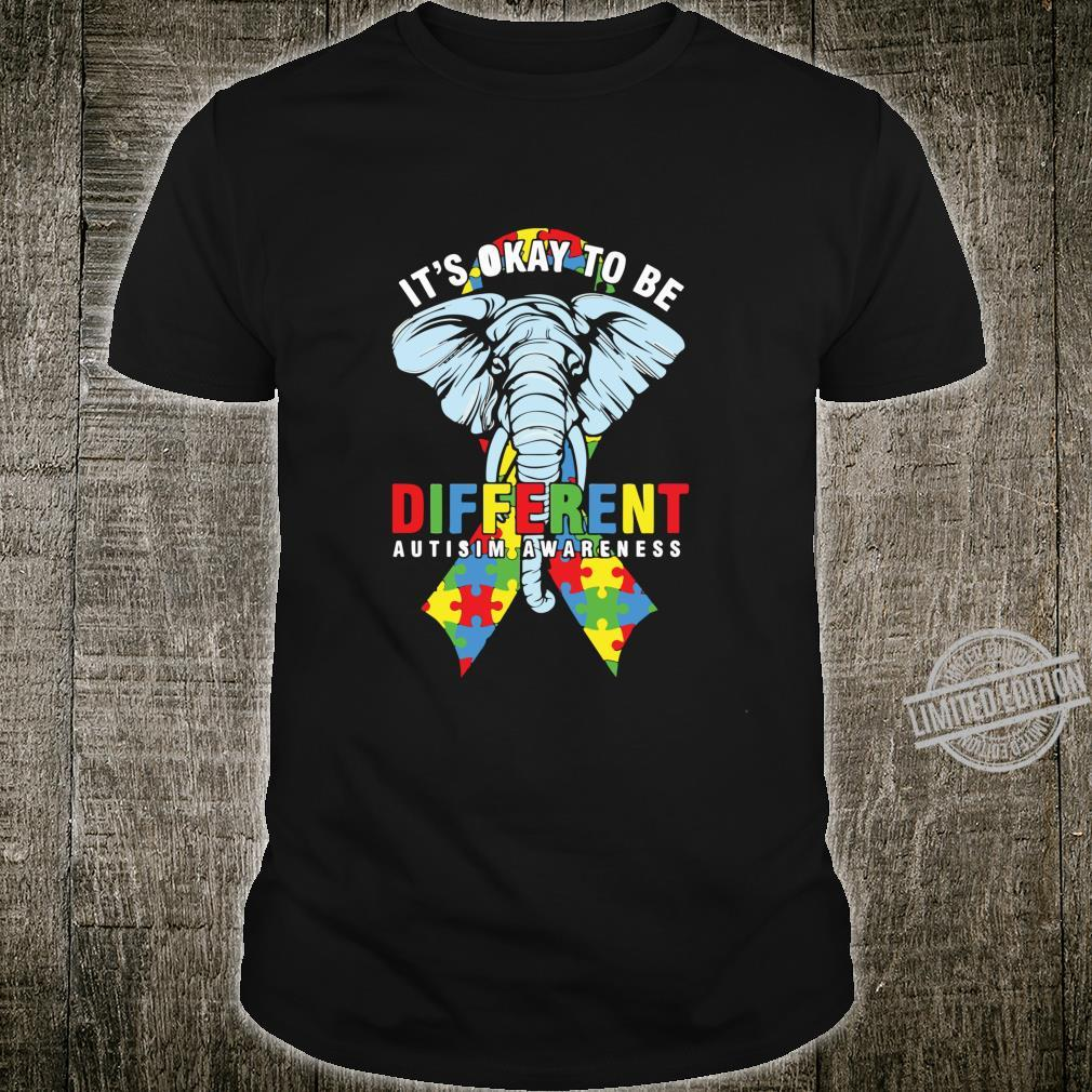 Autism Awareness Elephant Its Ok To Be Different Puzzle Shirt