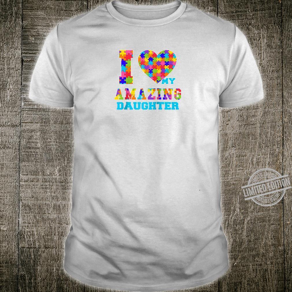 Autism Awareness Puzzle Mom Dad Daughter Love Shirt