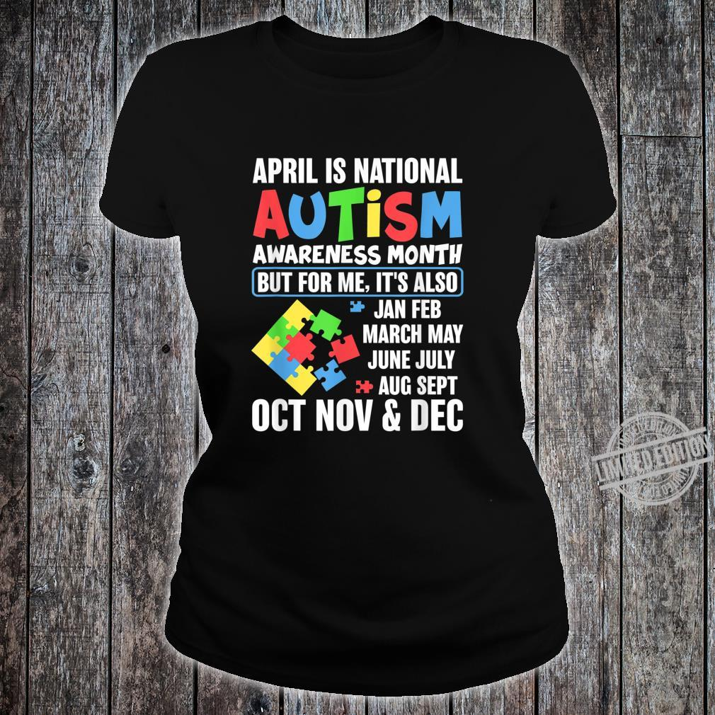 Autism Month Gift for Autism Mom or Teacher Autism Shirt ladies tee
