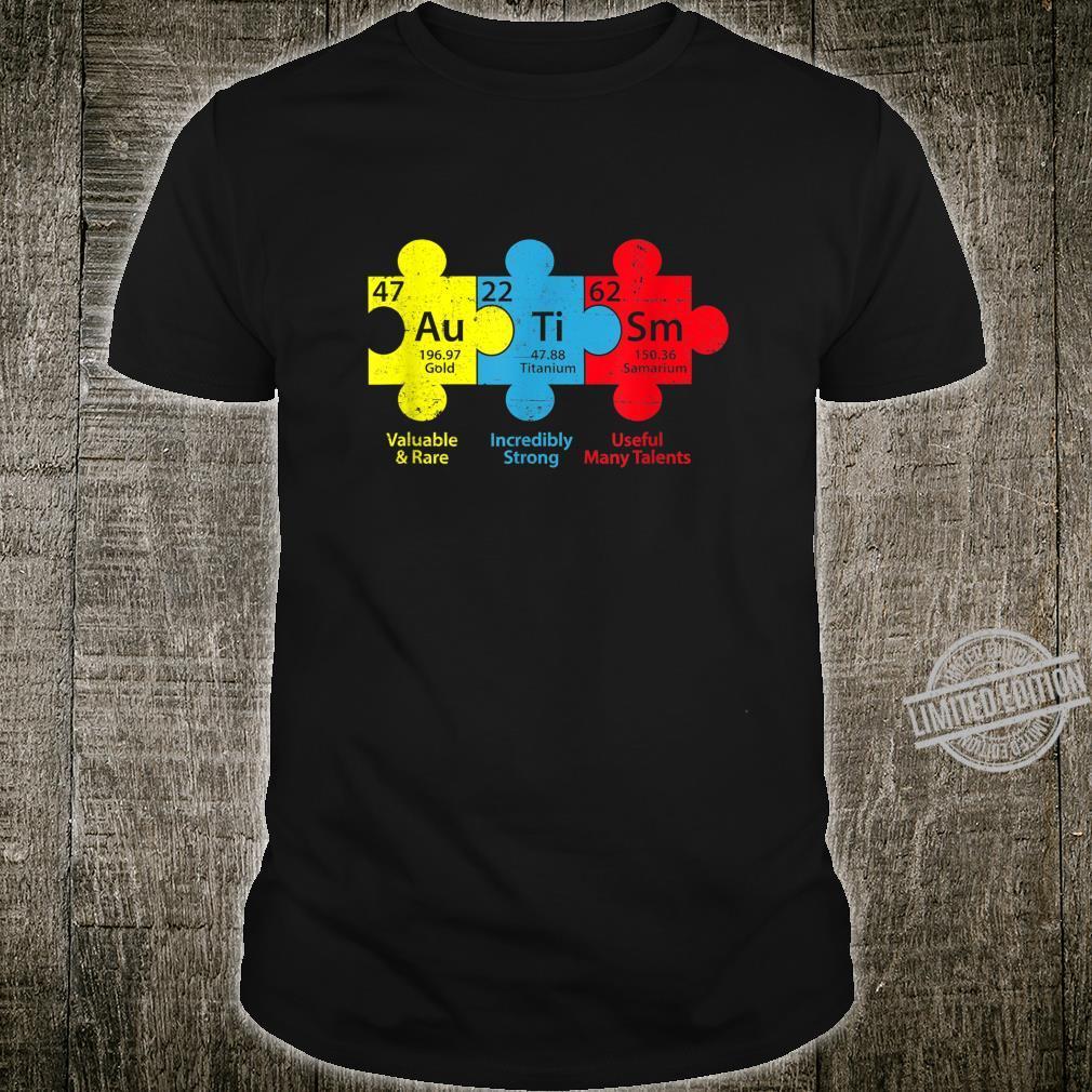Autism Puzzle Chemical Element Autism Awareness Shirt