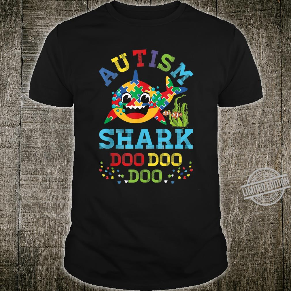 Autism Shark Puzzle Awareness Day Cute Doo Doo Boy Girl Shirt