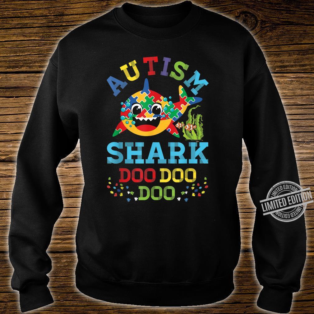 Autism Shark Puzzle Awareness Day Cute Doo Doo Boy Girl Shirt sweater