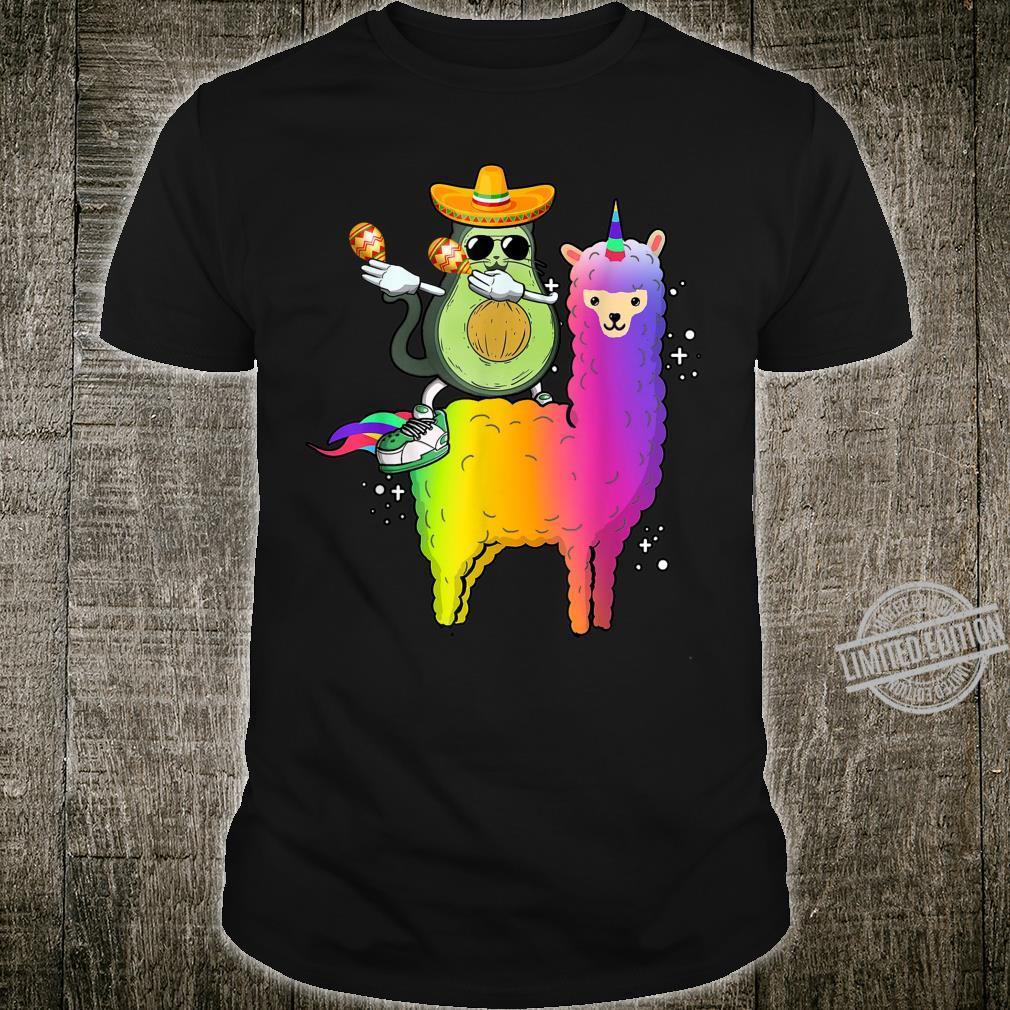 Avogato Riding LLama Cinco De Mayo Mexico Shirt