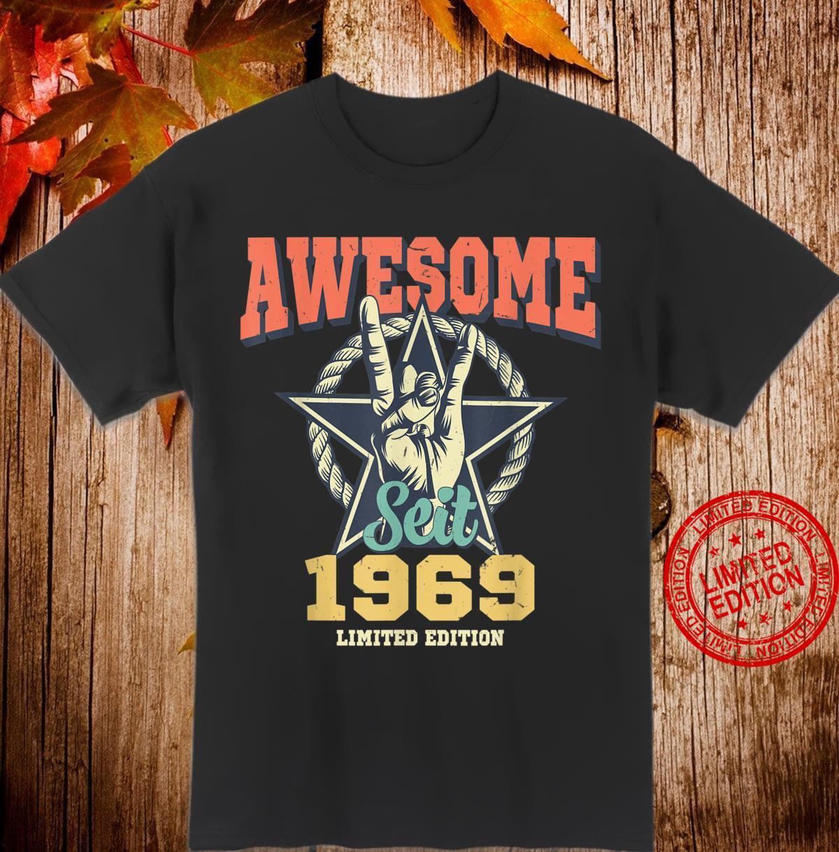 Awesome Since 1969 Jahrgang 51 Geburtstag Geschenk Vintage Shirt