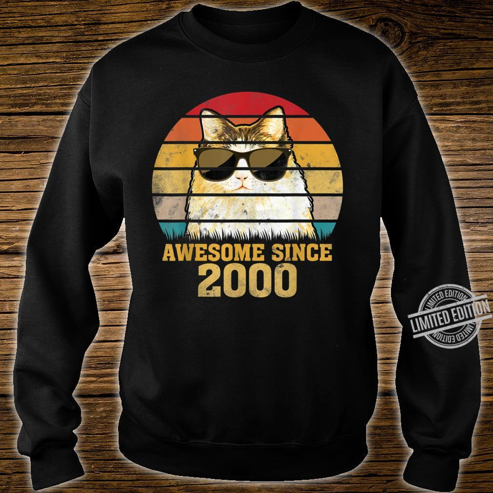 Awesome Since 2000 20th Birthday Retro Cat Shirt sweater
