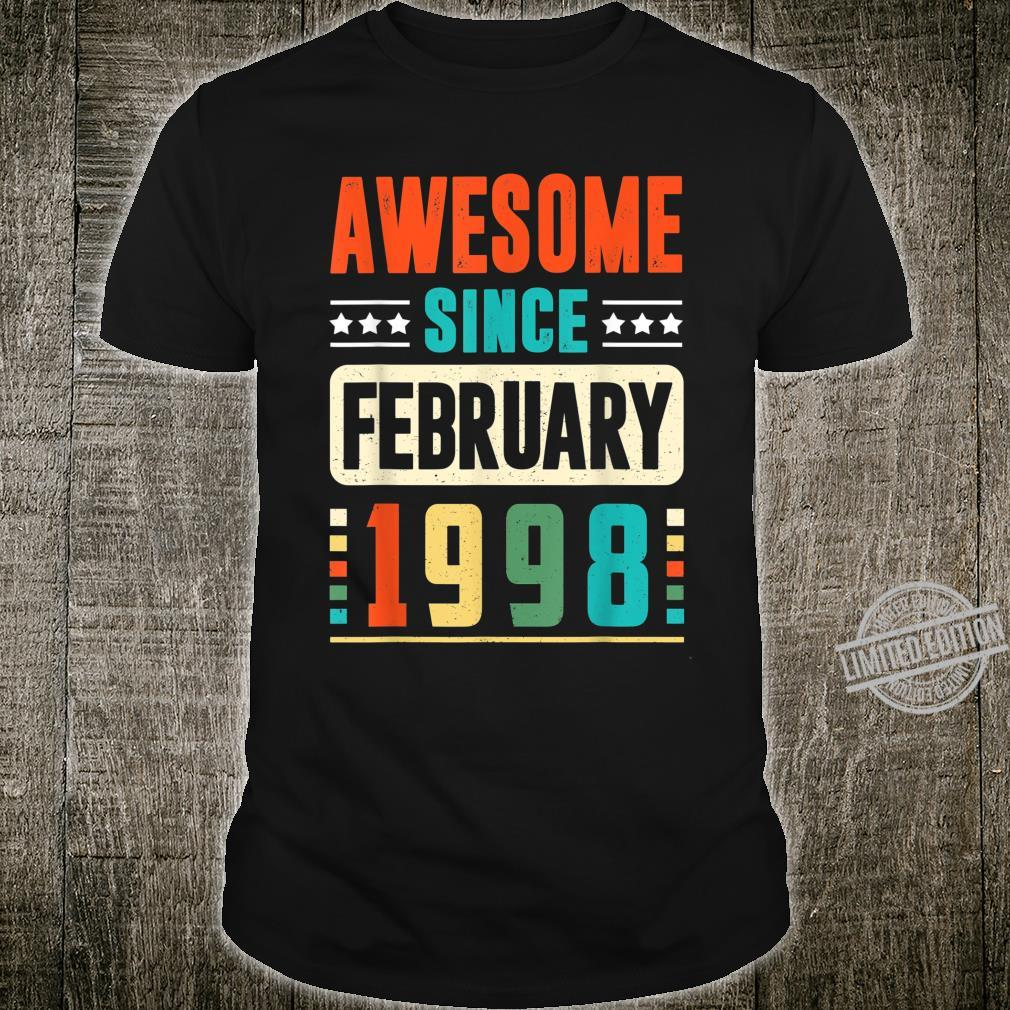 Awesome Since February 1998 22 Years Old 22 Birthday Shirt