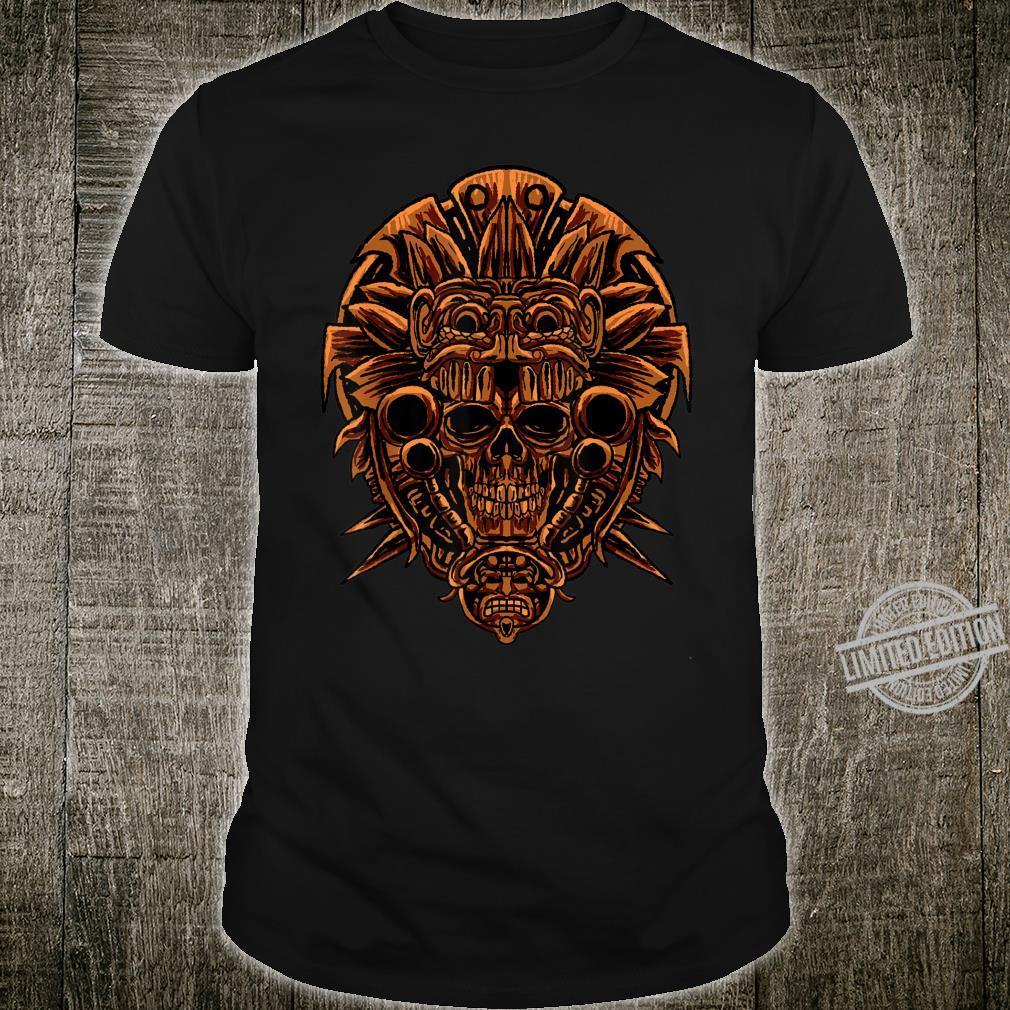 Aztec Skull Cool Death's Head Skeleton Inca Maya Idea Shirt