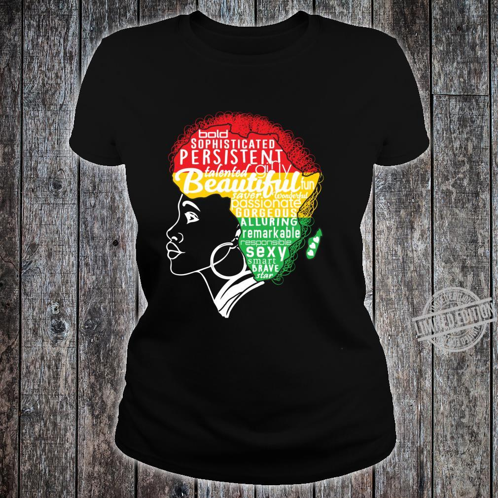 BEAUTIFUL IS IN MY AFRICAN DNA Natural Afro Pride Shirt ladies tee