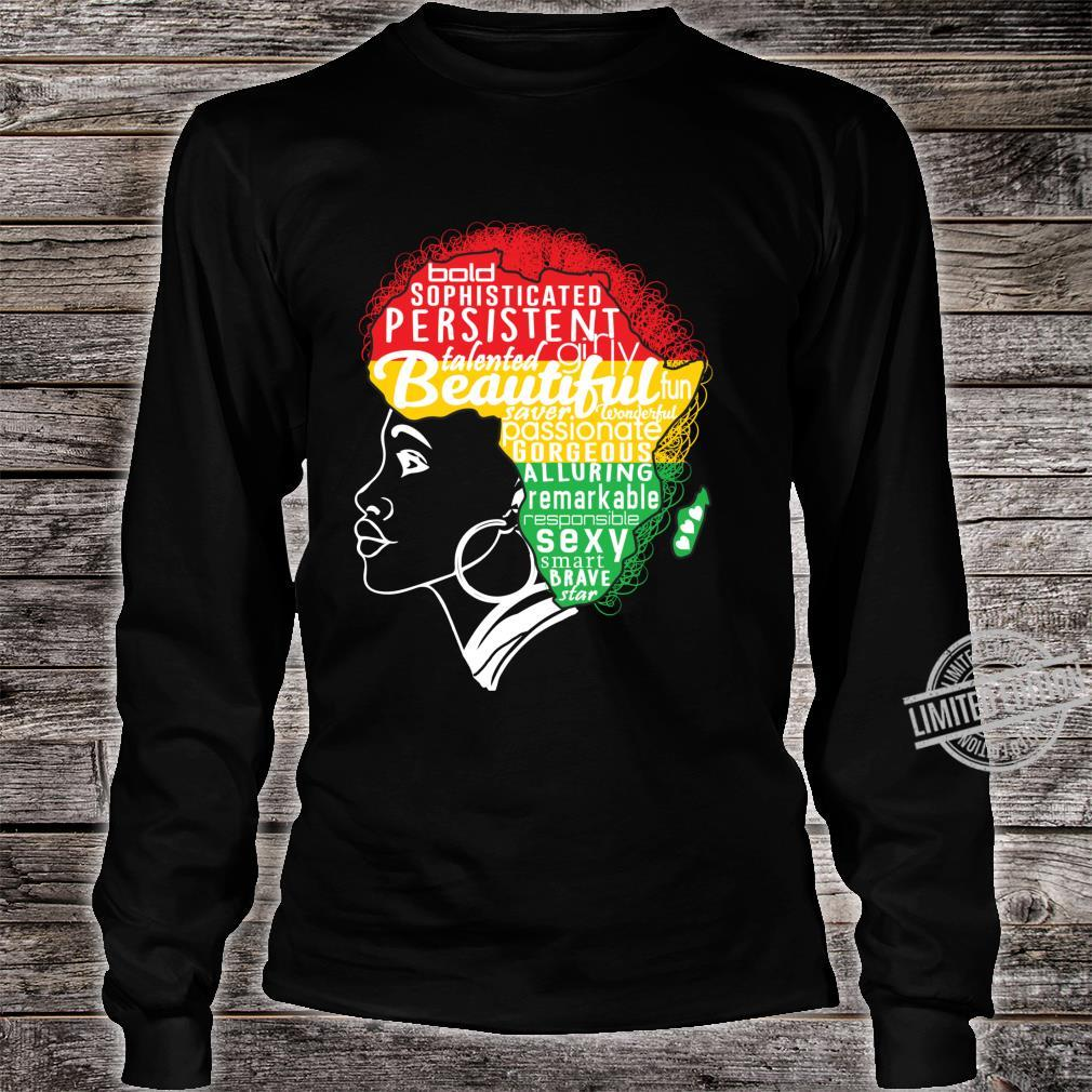 BEAUTIFUL IS IN MY AFRICAN DNA Natural Afro Pride Shirt long sleeved