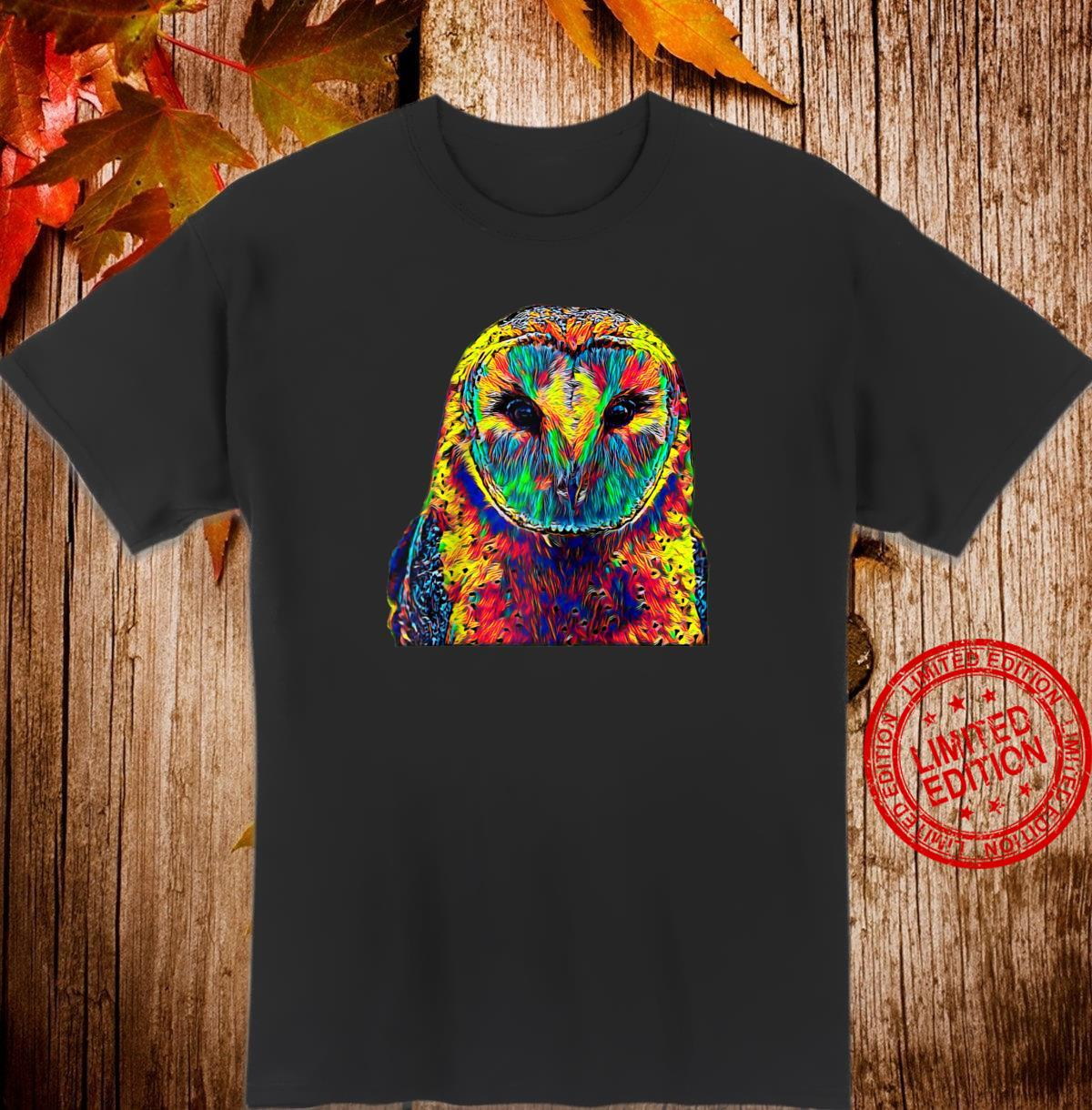 Barn Owl Colorful Art Shirt