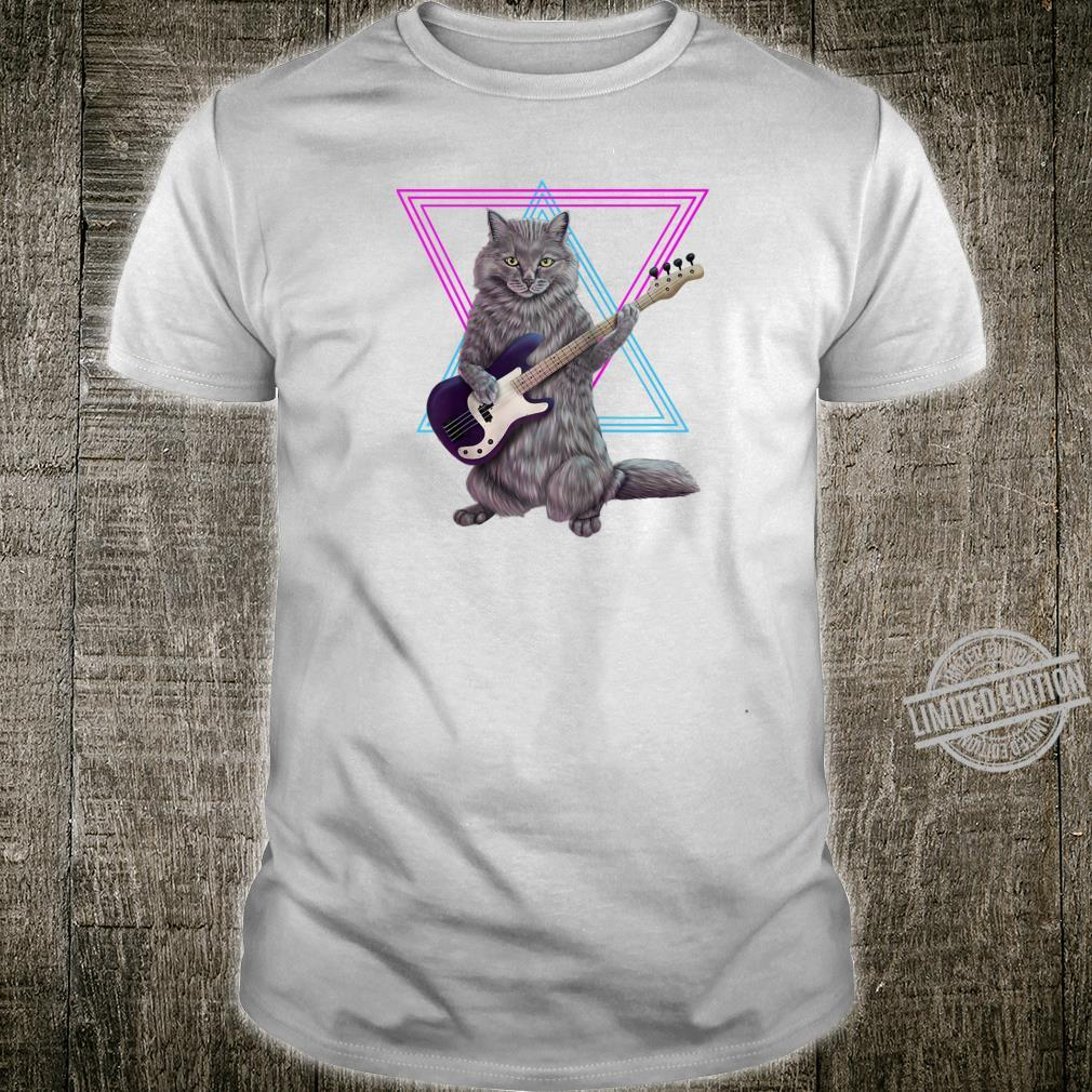 Bass cat Rock kitty on a bass guitar Shirt