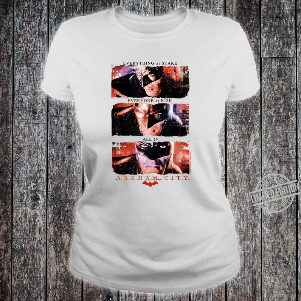Batman Arkham City All In Shirt ladies tee