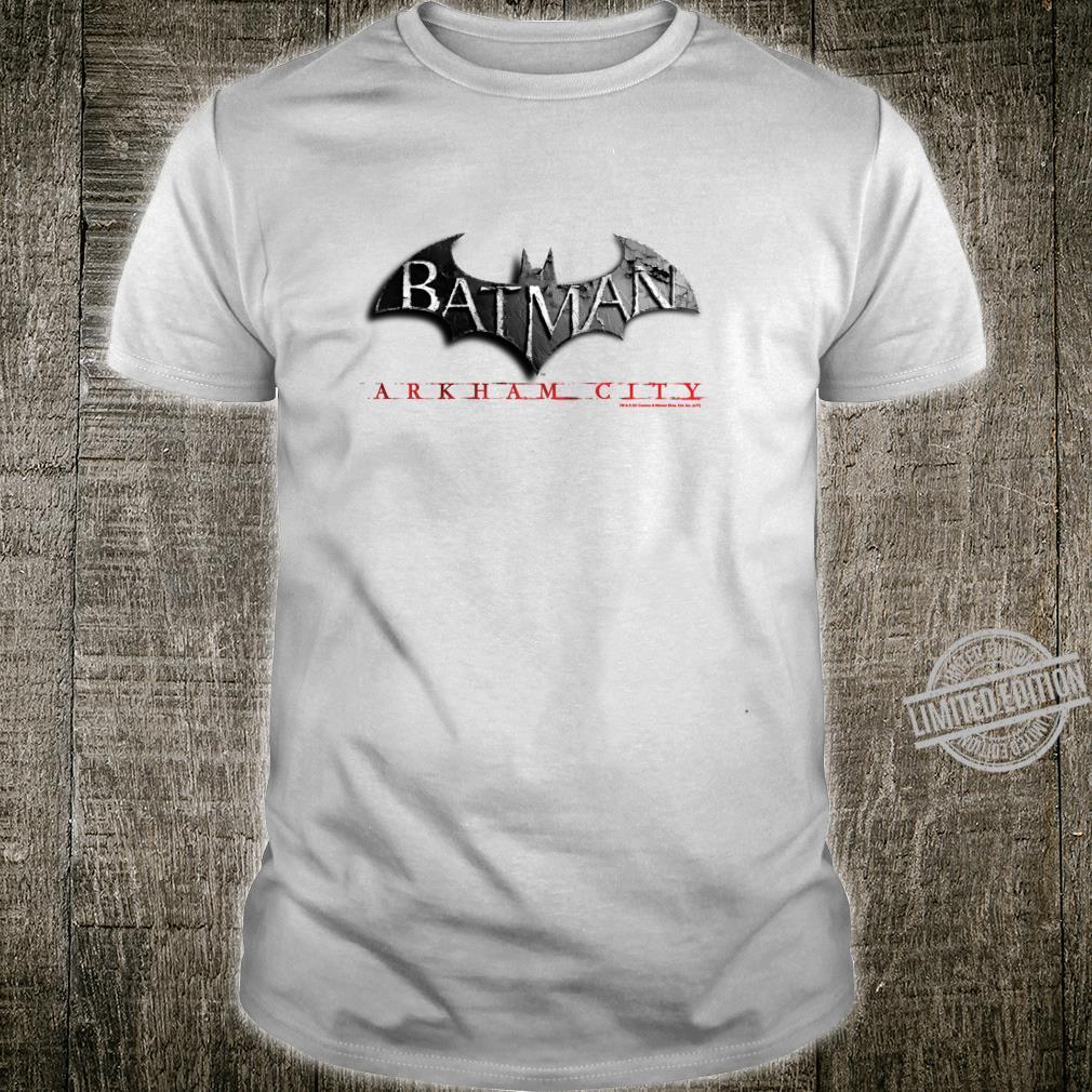 Batman Arkham City Logo Langarmshirt Shirt