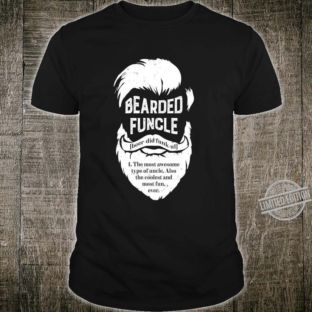 Bearded Funcle Uncle Definition Beard Langarmshirt Shirt