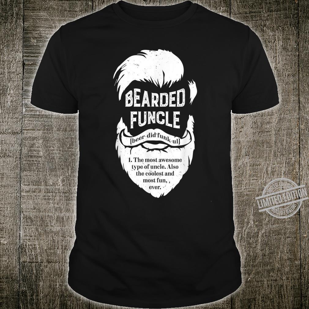 Bearded Funcle Uncle Definition Beard Shirt