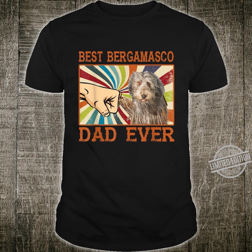 Best Bergamasco Dad Ever Retro Vintage Shirt