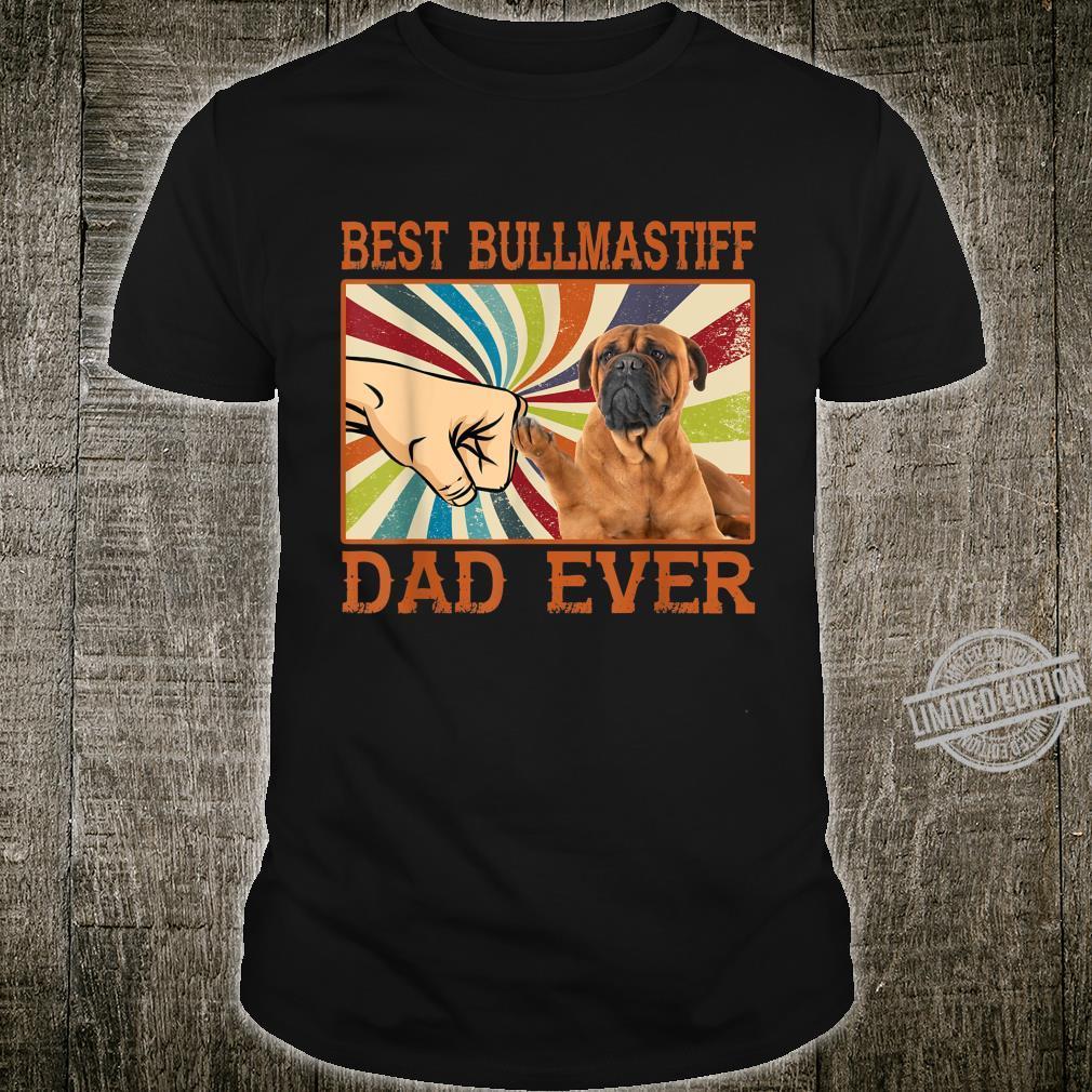 Best BullMastiff Dad Ever Retro Vintage Shirt