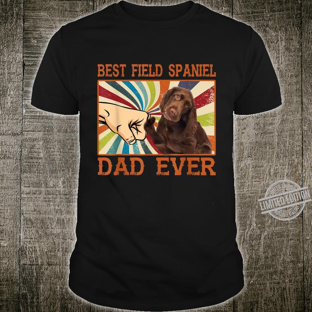 Best Field Spaniel Dad Ever Retro Vintage Shirt