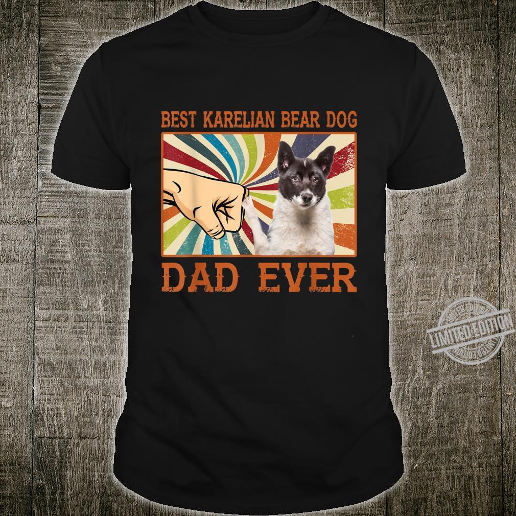 Best Karelian Bear Dog Dad Ever Retro Vintage Shirt