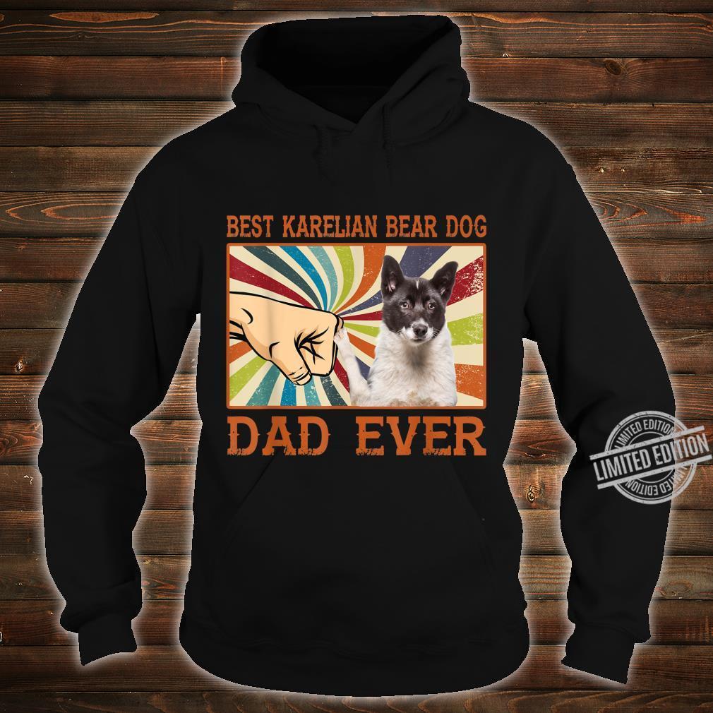 Best Karelian Bear Dog Dad Ever Retro Vintage Shirt hoodie