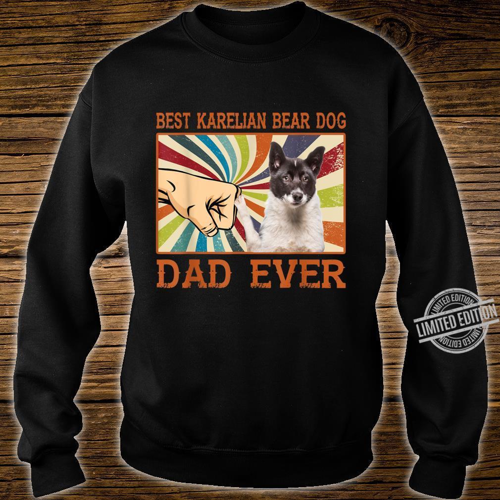 Best Karelian Bear Dog Dad Ever Retro Vintage Shirt sweater