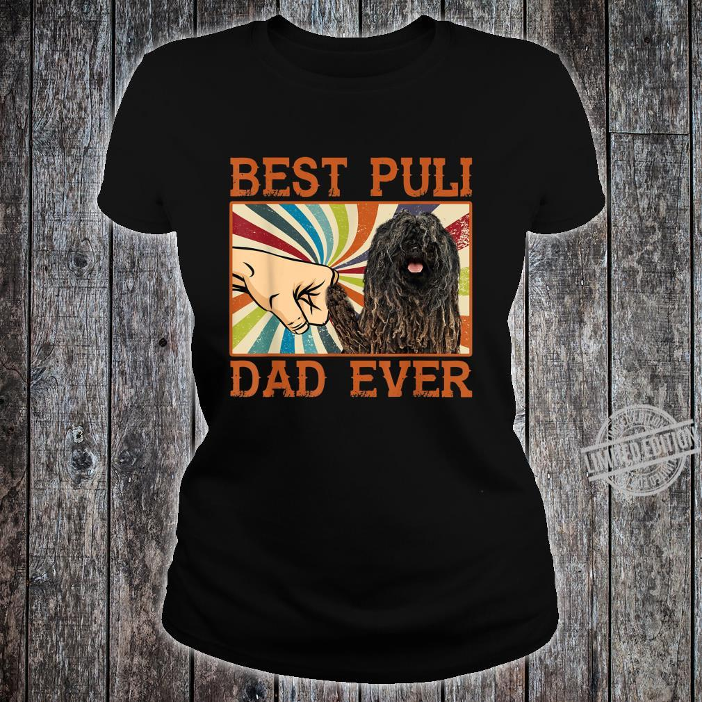 Best Puli Dad Ever Retro Vintage Shirt ladies tee