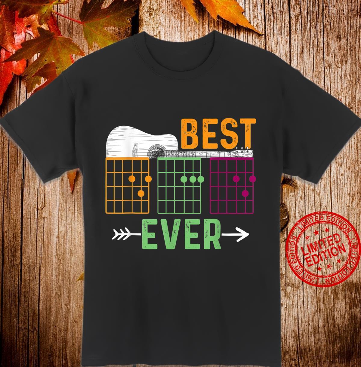 Bester Papa aller Zeiten Gitarre Shirt