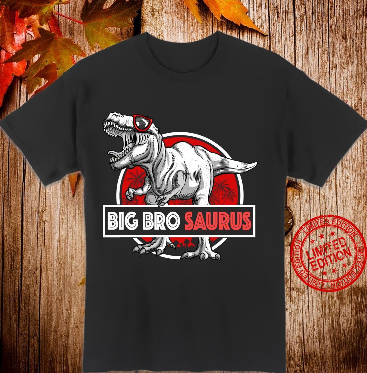 Big Brosaurus TRex Shirt Lustig Big Bro Saurus Dinosaurier Langarmshirt Shirt