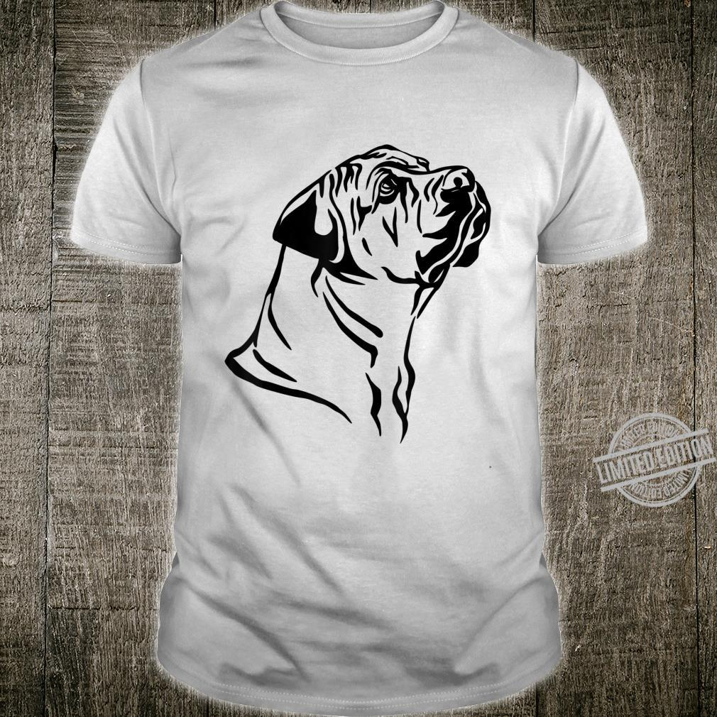 Boerboel Dog Farmhouse Dog Silhouette Shirt