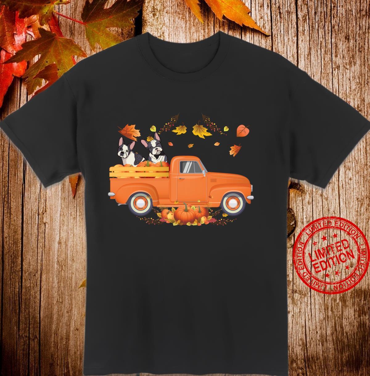 Boston Terrier Pumpkin Truck Fall Thanksgiving Halloween Shirt