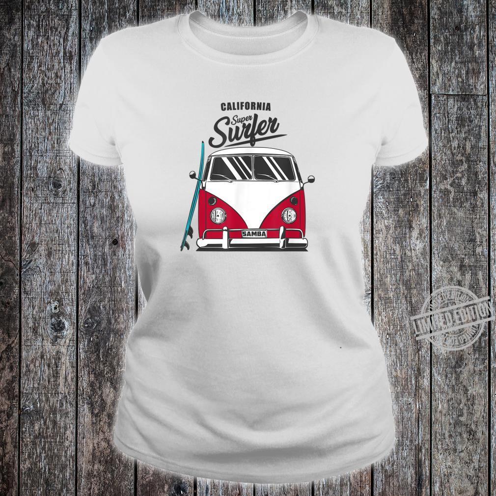 California Super Surfer Van Bus Car California Love LGBT Shirt ladies tee