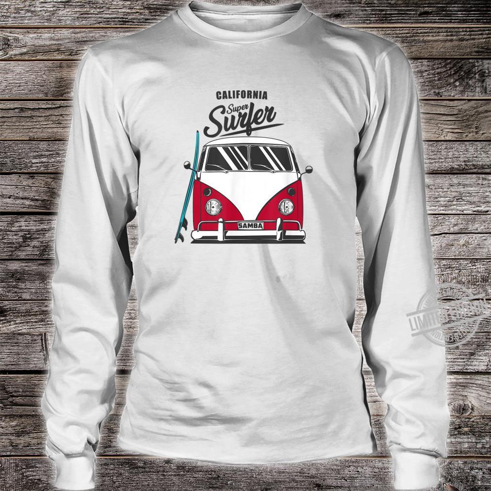 California Super Surfer Van Bus Car California Love LGBT Shirt long sleeved